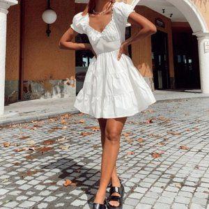 Princess Polly White Daniela Fit & Flare Dress 4US